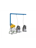 Two Units Two Buckets Half Portable Milking Machine-C024