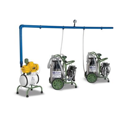 Dört Üniteli İki Kovalı Yarı Sabit Taşıma Arabalı Sağım Makinesi-C024A